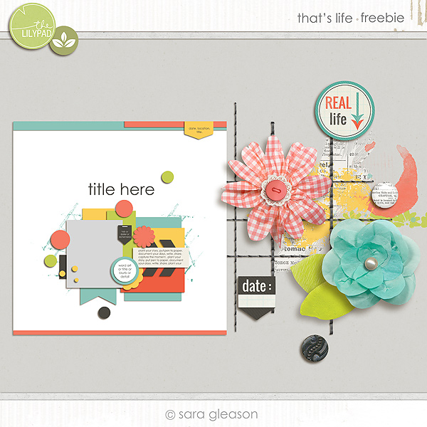 DigiScrap Parade That's Life by Sara Gleason