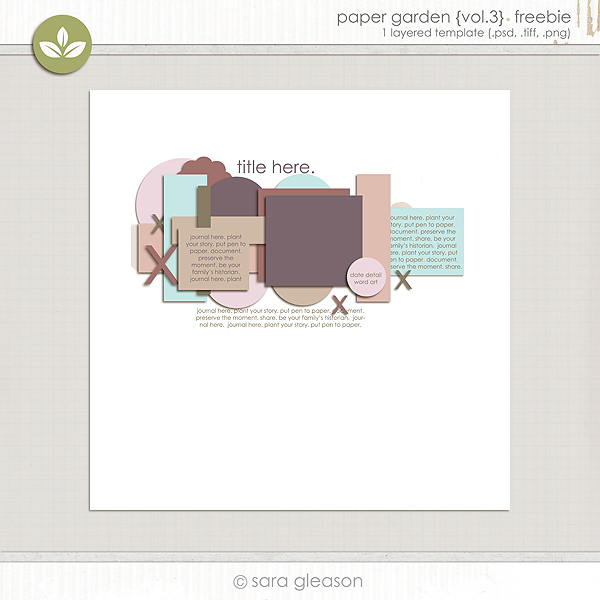 Paper Garden volume three {free download}