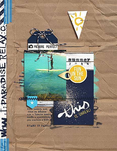 Poppy page design creative inspiration by Amanda