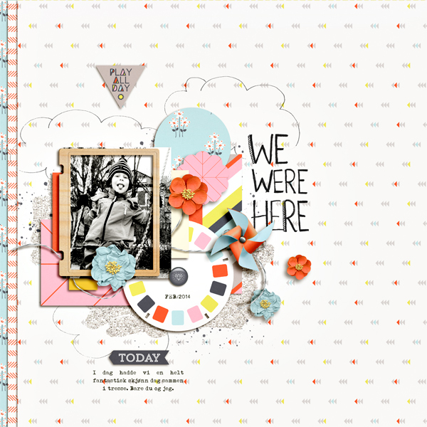 Poppy page design creative inspiration by Christine