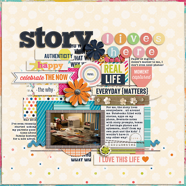 Creative Inspiration for the April 2014 Just Press Play challenge by Stacy
