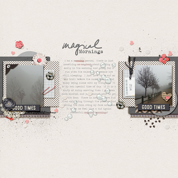 Creative Inspiration for the May 2014 Just Press Play challenge with Papyrus {April} page designs by Jen
